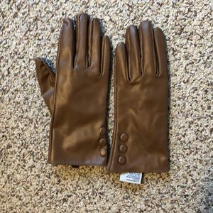 Aldo gloves - faux leather brown